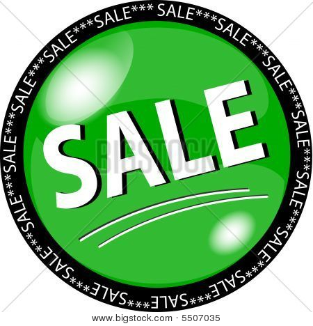 green sale button