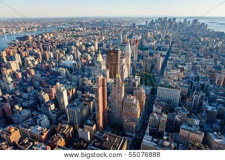 Aerial View Of South Manhattan, New York City