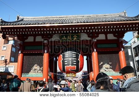 Asakusa, Japan- Nov 21, 2013: Sensoji Temple Is Very Popular Temple.