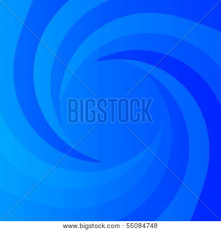 Abstract blue power background with whirlpool