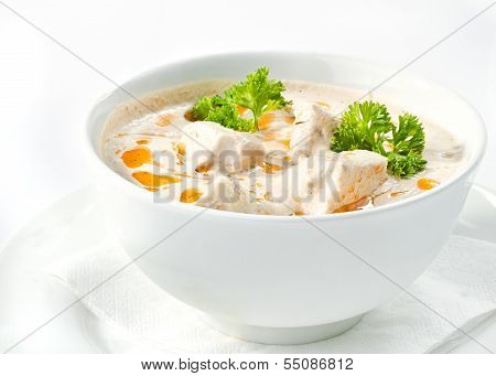 chicken and mushrooms cream soup