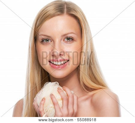 Teenage Girl Holding Wisp Of Bast