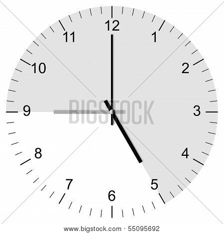 Clock Illustration Nine To Five
