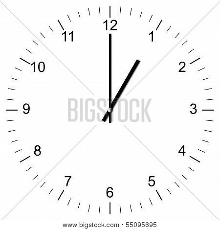 Clock Illustration 1:00