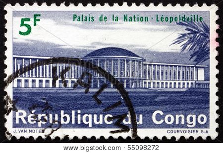 Postage Stamp Zaire 1964 National Palace, Leopoldville