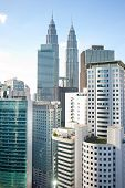 image of petronas towers  - Architecture of Kuala Lumpur with famous Petronas Twin Towers - JPG