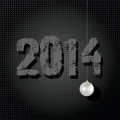 2014 New Year holiday stylish, dark minimalistic vector illustration