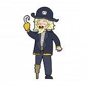 image of peg-leg  - cartoon pirate captain - JPG