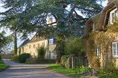 image of english cottage garden  - The tiny village of Hidcote Bartrim near Hidcote Gardens - JPG