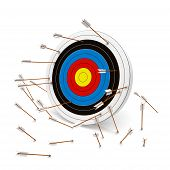 foto of archery  - Missing the mark - JPG