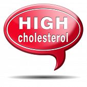 stock photo of lipids  - high cholesterol level lower saturated fats to avoid cardiovascular disease - JPG