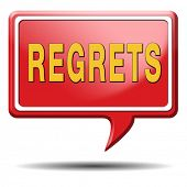 picture of saying sorry  - regret or no regrets saying sorry and offer apologize being ashamed for bad decisions - JPG