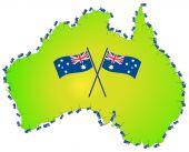 Australian Flag Australia Map