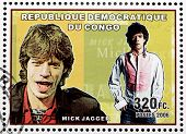 Mick Jagger Stamp