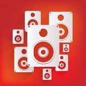 stock photo of subwoofer  - Subwoofer web icon - JPG