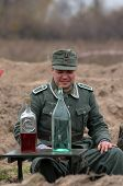 stock photo of landmines  - Soldier - JPG