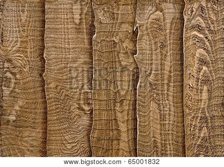Rustic Wood Fence Section In Closeup