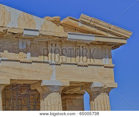 ancient temple detail, Athens Greece