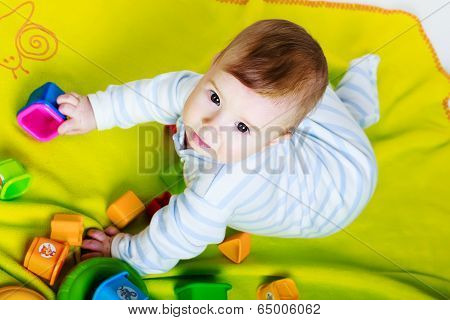 Little Baby Boy With Toys