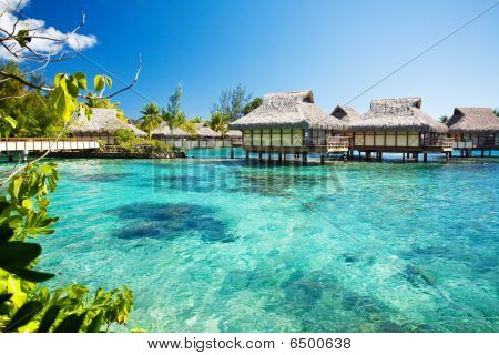 Over Water Bungalows With Over Amazing Lagoon