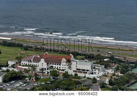 Seaside above view to Durban coast