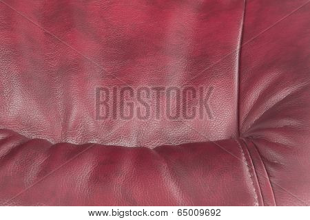 Leather Of Claret Color As A Background