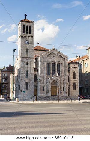Sarajevo, Bosnia and Herzegovina - May, 11 2014: Saint Joseph's Church,  is a Roman Catholic church in Sarajevo, Bosnia and Herzegovina.