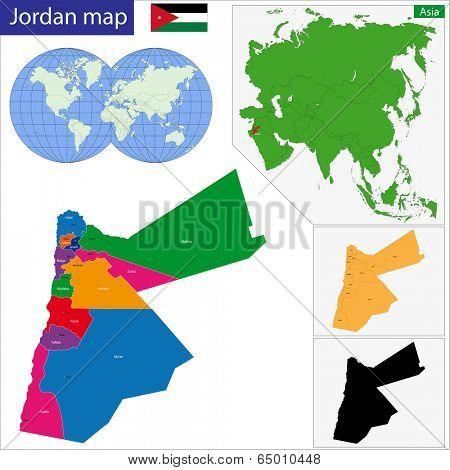 Map of administrative divisions of Jordan