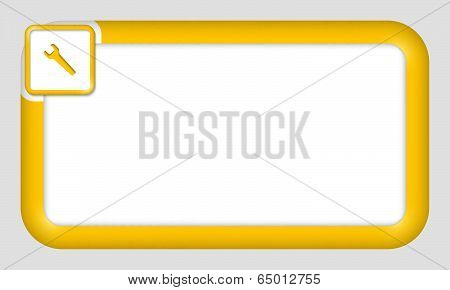 Vector Frame For Text Insertion With Spanner