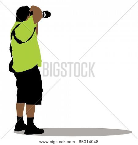 An image of a standing photographer.