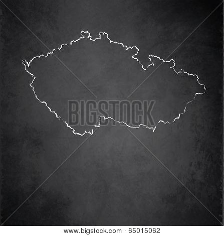 Czech map blackboard chalkboard raster