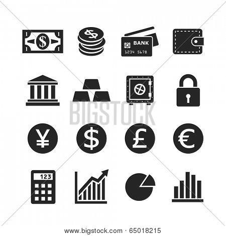 Finance icon set. Raster version