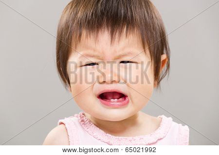 Baby having temper