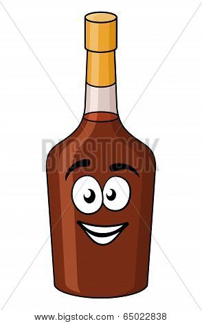 Cartoon bottle of alcohol or liqueur