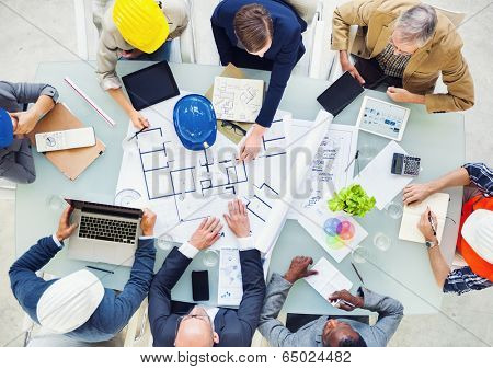 Group of Architects Planning on a New Project