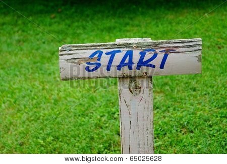 Start Sign New Beginning