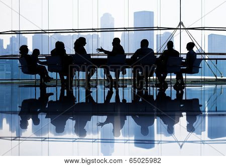 Large group of Business people meeting