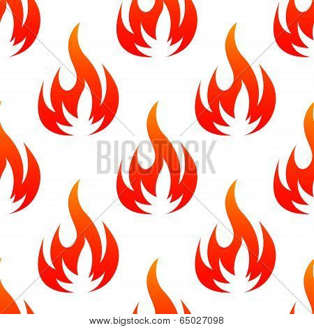 Fire flames seamless pattern