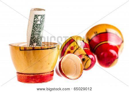 Dollar Within Matryoshka Doll