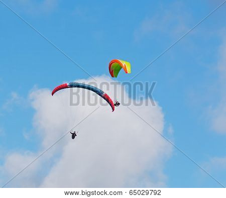 Clouds Over Para Gliders