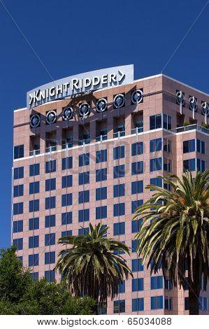 Landmark Knight Ridder Building In Downtown San Jose