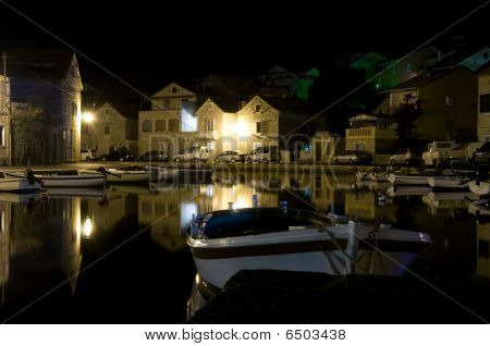 Vrboska At Night