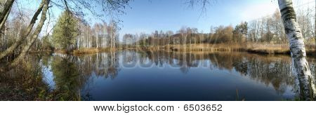Pfrungener Ried See Im Herbst - Lake In Autumn
