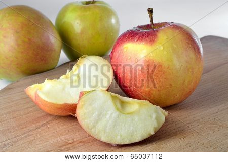 Apples On The Desk
