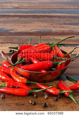 Red Chili Pepper In Bowl