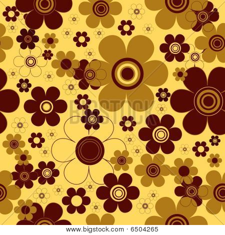 Floral seamless yellow background