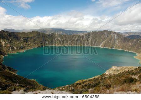 Quilotoa Lagoon, Ecuador Andes.
