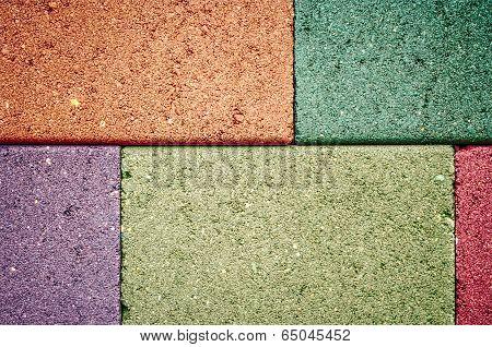 Colorful Of Concrete Wall Concrete Blocks.