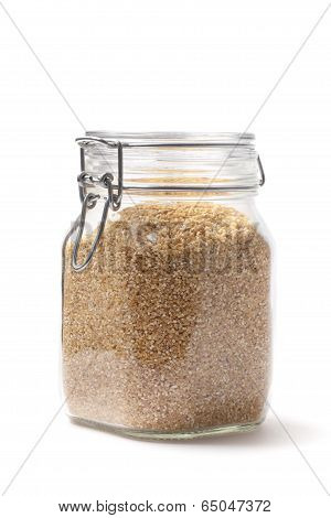 Groats In A Jar- Stock Photo