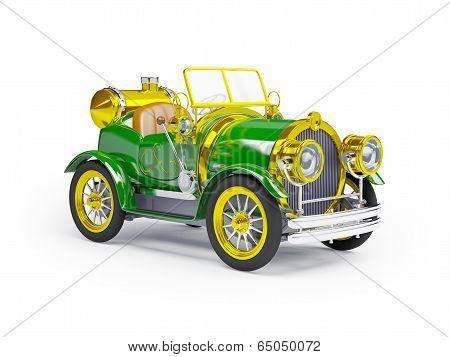 1910 green retro car